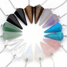 Chakra Crystal Quartz Gemstone Pendulum Healing Dowsing Reiki Pendant Chains Lot