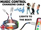 Voice Music Control LED Light Charging Charger Cable MICRO USB Lighting SONY LG