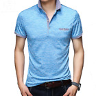 Men Casual High Quality Solid Cotton Polo T-Shirt Tops Tees