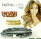 ENDLESS Anthracite Multi Leather 3 Strand Double Wrap Charm Bracelet Silver Clas