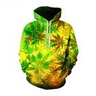 Men Women Weed Leaf Printed 3D Hoodies Sweatshirt Street Wear 2019 Winter