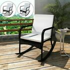 Outdoor Garden Chair With Rocking Armchair Seat Cushion Furniture Poly Rattan