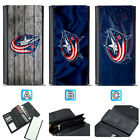 Columbus Blue Jackets Leather Wallet Purse Clutch Trifold Women Handbag $16.99 USD on eBay