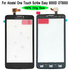 Original For Alcatel One Touch Scribe Easy 8000D OT8000 Outer Glass Touch Screen