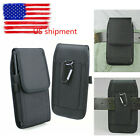 Waist Belt Holster Carrying Card Wallet Pouch Black Canvas Phone Bag Case Cover