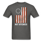 Not Offended Betsy Ross 1776 American Flag patriot Men's T-Shirt