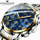 FNGEEN Luxury Mens Watches Quartz Stainless Steel Analog Sports New Wrist Watch~ image