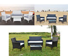 Rattan Coffee Table And Chair Sets With 4 Pieces Garden Patio Furniture Sets