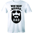 Big Bad Beard Dad Fathers Day Funny Cool Daddy Mustache Gift Tee Men's T-Shirt