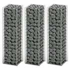 vidaXL 3pcs Gabions Wall Rock Stone Basket Galvanised Wire Cover Welded Mesh New