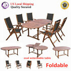 Vidaxl Oval Wood Coffee Table Dining Table Living Room Garden Furniture New
