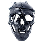 Steampunk Style Metallic Scary Horror Skeleton Mask for Halloween Costume Party