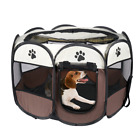 Pet Cat Dog Playpen Tent Portable Exercise Fence Kennel Cage Soft Crate House US