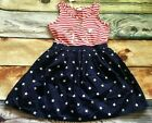 Gymboree Dress 5 Patriotic Stars Stripes Dress July 4 NWT Red White & Cute