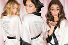 Secret Fashion Show Backstage Silky Kimono Robe Rhinestone Pink Angel Costume
