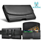 Phone Holster Pouch Leather Wallet Case with Belt Loop Card Holder for Samsung