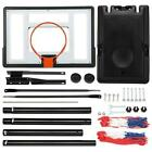 8.5Ft /10FT Basketball Hoop System Stand Youth Sport w/ Wheels PVC Backboard
