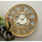 DecMode Enticing Wood 18 in. Wall Clock
