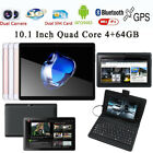 10.1'' Game Tablet PC Android 6.0 Octa Core 4 64GB Dual SIM HD Wifi 3G Phablet