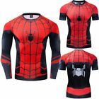 Spider-Man Far From Home Costume Cosplay Compression 3D Marvel T-shirt Tops USA image