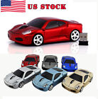 Cordless Wireless 2.4Ghz Optical Ferrari Car Mouse Computer Mice USB Receiver US