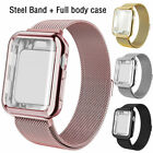 Kyпить For Apple Watch 5/4/3/2/1 Steel Band with Screen Protector Case 38/40/42/44mm  на еВаy.соm
