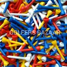 50mm   PLASTIC GOLF TEES - ASSORTED COLOURS - VARIOUS QUANTITIES  FREE U.K P