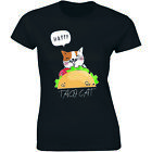 Happy Taco Cat - Spelled Backwards is Tacocat Graphic Funny Cat Women's T-shirt