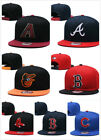 For men's Fitted Cap Flat Brim Teams Adjustable Snapback Baseball Hat on Ebay