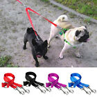 Two Dog Leash Coupler Nylon Dog Lead Leash for Twin Two Dogs Pit Bull Walking