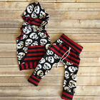 US Halloween Toddler Baby Girl Boy Hooded Tops Pants 2Pcs Outfits Set Clothes
