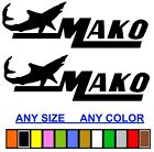 Mako Marine Boat Sticker Decal Fishing *any Size Or Color Available*