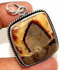 """E35552 Septarian 925 Sterling Silver Plated Pendant 2"""""""