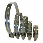 ASH W1 Zinc Plated Genuine Hose Clips Fuel Hose Air Water Pipe Clamp Worm Drive