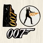James Bond Patches 007 Logo Roger Moore Sean Connery Licence to Kill Embroidered $11.96 CAD on eBay