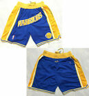 New Men's Golden State Warriors Basketball pants Shorts Retro mesh Blue on eBay