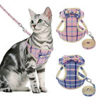Breathable Soft Cat Harness with Leash Set Nylon Cat Vest with Cute Bow tie