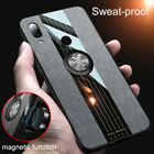 For Xiaomi Redmi Note 8 7 Pro Magnetic Ring Metal Holder Hard Cover Fabric Case