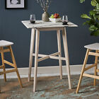 Kenilworth Modern Bar Table with Rubberwood Legs and Laminate Table Top