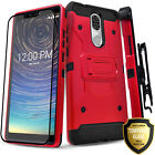 for COOLPAD LEGACY Case Hybrid Belt Clip Cover + Tempered Glass Protector