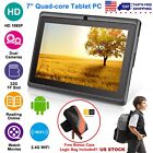 """7''-9"""" Android Quad Core Tablet PC 16GB/8GB HD WIFI Dual Camera for Kids Student"""