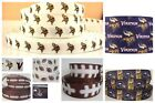 "7/8"" GROSGRAIN MINNESOTA VIKINGS RIBBON RESINS FOR BOWS 3/8"" GROSGRAIN VIKINGS $6.36 USD on eBay"