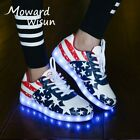 Boys Girls Kids LED Light Up Sneakers Rechargeable Glowing Children Sapato Shoes