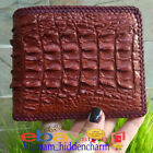 Genuine Crocodile Skin Wallet - Billfold Men's - Border Knit