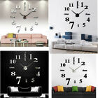 Wall Clock Watch Large Modern Simple Home DIY Sticker Decal 3D Roman Numeral