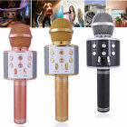 KTV- WS858 Wireless Karaoke Microphone USB Player Bluetooth Mic Speaker Gift EN