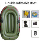 Triple Person Inflatable Raft Kayak Rubber Boat + Oars + Air Pump Water Sport