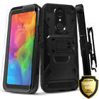 for LG STYLO 4 / 4 PLUS Case + Belt Clip Kickstand +Tempered Glass Protector