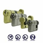 Euro Profile Security Cylinder Door lock Anti Snap Pick Bump Drill -Brass Finish