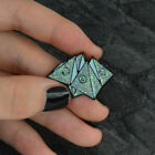 Enamel Origami game Science chemical Cobweb Matches Rose Brooch Lapel Pin Badge